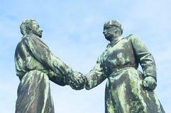 匈牙利语-苏联友谊纪念品 免版税库存照片