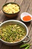 匈牙利豌豆炖煮的食物 免版税库存图片