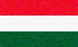匈牙利,纸纹理的水彩旗子 皇族释放例证