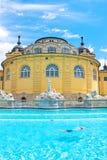匈牙利:Szechenyi浴温泉在布达佩斯 免版税图库摄影