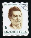匈牙利-大约1980年:在匈牙利打印的岗位邮票,展示Fer 库存图片
