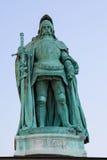 匈雅提・亚诺什雕象在布达佩斯,匈牙利 免版税库存图片