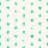 绿化与六角形的被抓的难看的东西样式无缝的样式 库存图片