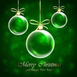 绿化圣诞节背景 免版税库存照片