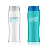化妆包装,塑料香波或者阵雨胶凝体瓶 免版税库存图片