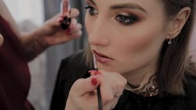 化妆师申请专业构成于一美丽的少女 在构成的新理念 影视素材