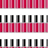 化妆无缝的传染媒介样式 指甲油纹理 夏天霓虹背景 皇族释放例证