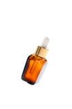 化妆油褐色瓶 免版税库存图片