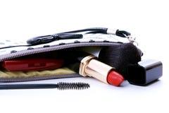 化妆用品另外钱包s妇女 免版税库存图片