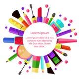 化妆用品圈子 库存照片