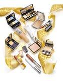 化妆用品基石生活  圣诞节礼物概念 库存照片