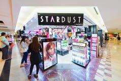 化妆用品存放在MBK商城,曼谷 库存照片