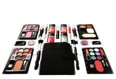 化妆用品工具箱 库存照片