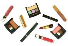化妆用品查出的集 免版税库存图片