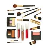 化妆用品查出的集 免版税图库摄影