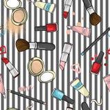 化妆用品样式 免版税库存照片