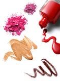 化妆用品组成 免版税库存照片