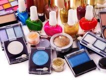 化妆用品装饰构成 免版税库存图片
