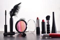 化妆用品装饰集 免版税库存图片