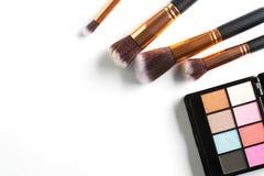 化妆用品裸体在白色 免版税图库摄影