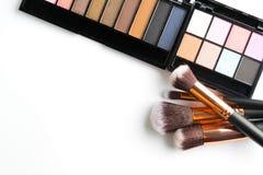 化妆用品裸体在白色 免版税库存照片