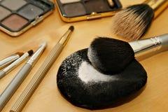 化妆用品详细资料 免版税库存照片
