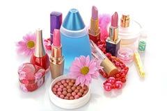化妆用品集 库存图片