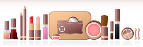 化妆用品集 免版税图库摄影