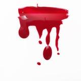 化妆用品,红色指甲油滴水 创造性的艺术 库存图片
