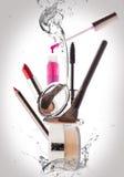 化妆用品 构成、秀丽和生气勃勃概念 免版税库存照片