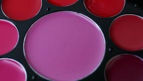 化妆眼影调色板构成的 影视素材