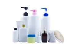 化妆秀丽的空白的容器 免版税库存图片
