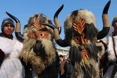 化妆舞会比赛Surva国际节日在佩尔尼克 库存照片