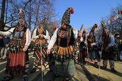化妆舞会比赛Surva国际节日在佩尔尼克 免版税库存照片