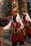 化妆舞会比赛Surva国际节日在佩尔尼克 免版税库存图片