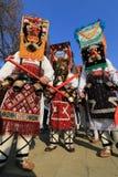 化妆舞会比赛Surva国际节日在佩尔尼克 免版税图库摄影