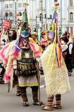 化妆舞会比赛Surva的节日在瓦尔纳,保加利亚 免版税图库摄影