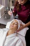 化妆治疗 图库摄影