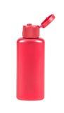 化妆水胶凝体的红色瓶 库存图片