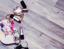 化妆fashio秀丽时尚秀丽构成,化妆用品- 库存图片