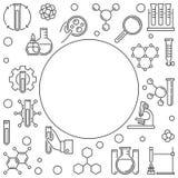 化学与空的空间的科学框架 r 向量例证