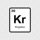 化学元素氪 向量例证