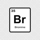 化学元素溴 库存例证