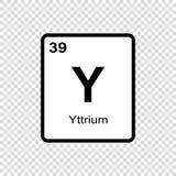 化学元素钇 库存例证