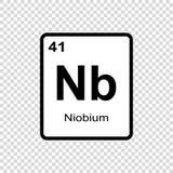 化学元素铌 皇族释放例证