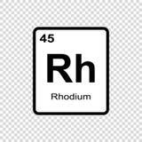 化学元素铑 向量例证