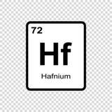 化学元素铪 皇族释放例证
