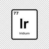 化学元素铱 向量例证