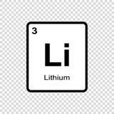 化学元素锂 向量例证