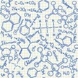 化学制品乱画无缝的样式 皇族释放例证